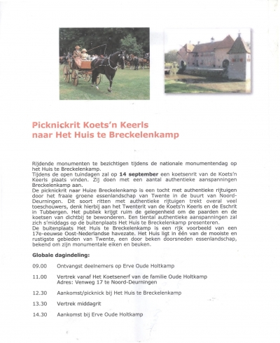 Nationale Monumentendag met Picknickrit Koets'n Keerls