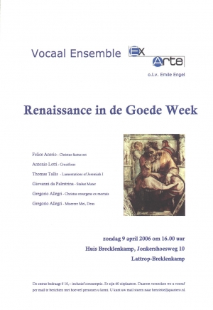 "Vocaal Ensemble ""Ex Arte"""