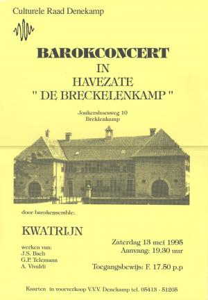 Barokconcert door ensemble Kwatrijn